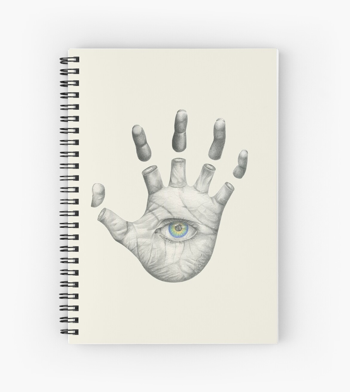 Hand eye coordination hamsa pencil drawing