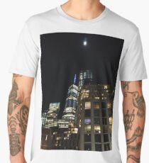 Metropolitan area, New York, Manhattan, Brooklyn, New York City, architecture, street, building, tree, car,   Men's Premium T-Shirt