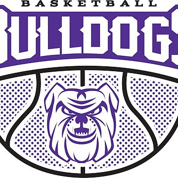 Bulldog Basketball Hoops - Just Nets Dark by 1of100