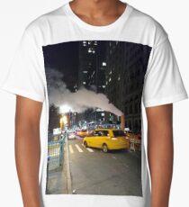 Taxi, Taxicab, New York, Manhattan, Brooklyn, New York City, architecture, street, building, tree, car,   Long T-Shirt
