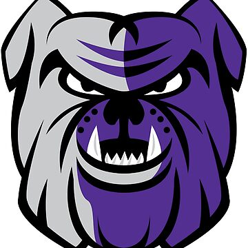 Bulldog Face - Two-Tone by 1of100