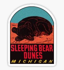 Sleeping Bear Dunes National Lakeshore Vintage Travel Decal Sticker