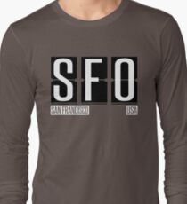 SFO- San Francisco CA Airport Code Souvenir or Gift Shirt Long Sleeve T-Shirt