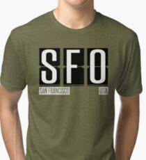 SFO- San Francisco CA Airport Code Souvenir or Gift Shirt Tri-blend T-Shirt