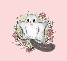 Flying Squirrel with Cherry Blossom by ednama