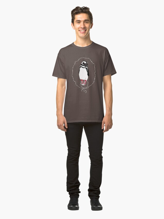 Alternate view of Happy Penguin in Converse Classic T-Shirt
