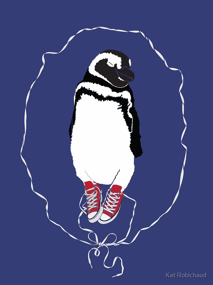 Happy Penguin in Converse by redkatblack
