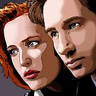 Mulder & Scully by blackregent