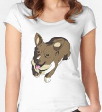 Corgi Ein The Data Dog Women's Fitted Scoop T-Shirt