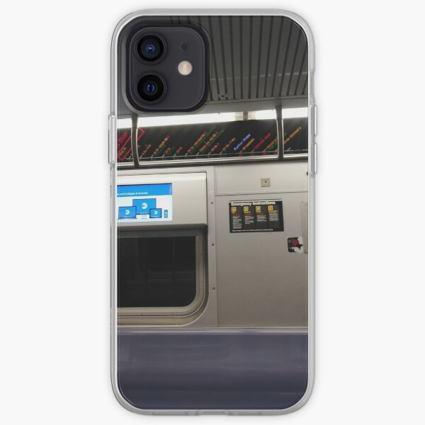 Train, New York, Manhattan, Brooklyn, New York City, architecture, street, building, tree, car,   iPhone Soft Case
