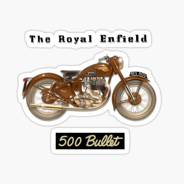 Bullet Vintage Sticker Thunderbird ROYAL ENFIELD Owners Club Cafe Racer