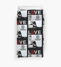 Lettantish Love Duvet Cover