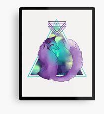 Neon Fox Metallbild