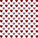 Pink and Red Hearts by Chere Lei