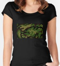 Camouflage Military Tribute Women's Fitted Scoop T-Shirt