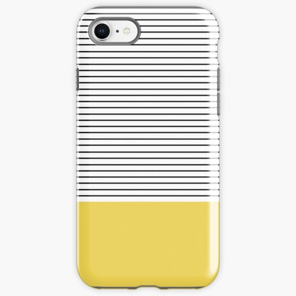 Minimal Stripes and chartreuse iPhone Tough Case