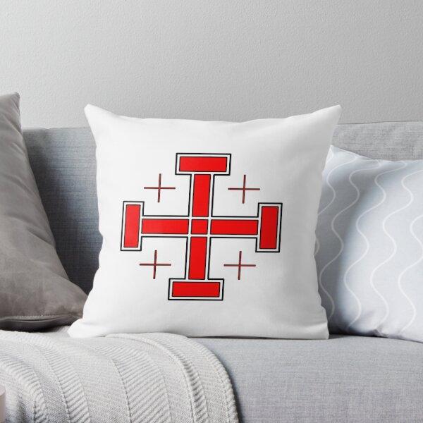 Crusader's cross  Throw Pillow