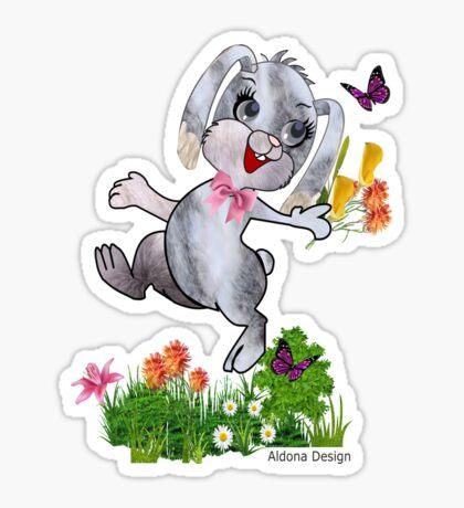 Bunny wishes Sticker