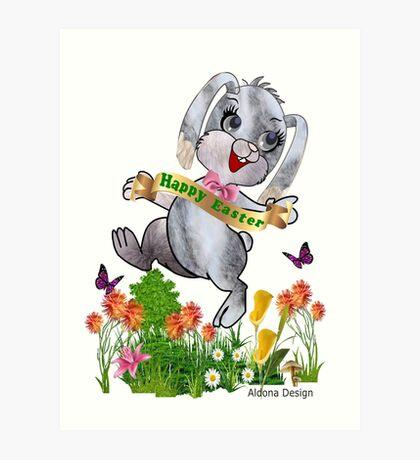 Bunny wishes Art Print