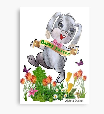 Bunny wishes Metal Print