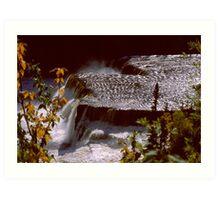 Root Beer Falls, Hay River NWT Art Print
