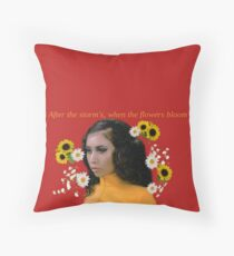 Kali Uchis//Bloom Throw Pillow