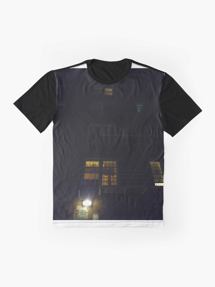 Alternate view of New York, Manhattan, Brooklyn, New York City, architecture, street, building, tree, car,   Graphic T-Shirt