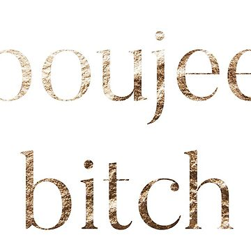 Boujee Bitch - Funny Laptop Stickers, T-Shirts, Clocks, and More! by itswillharris