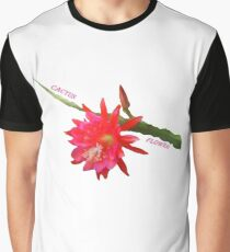 Cactus Flower Graphic T-Shirt