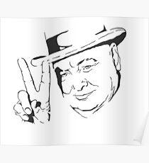 Churchill - V for Victory   Poster