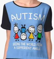 Autism seeing the world Chiffon Top