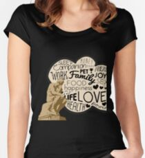 Funny The Thinker Overthinking Overthink Overthinker Women's Fitted Scoop T-Shirt