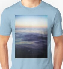 Mediterranean sea off Ibiza in dusk sunset evening colors Hasselblad square medium format film analogue photo T-Shirt