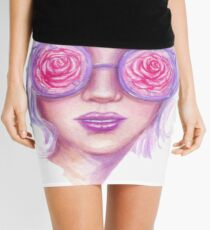 Rose Colored Glasses Mini Skirt