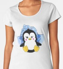 Cute Baby Penguin Animal Art Design Women's Premium T-Shirt