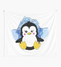 Cute Baby Penguin Animal Art Design Wall Tapestry