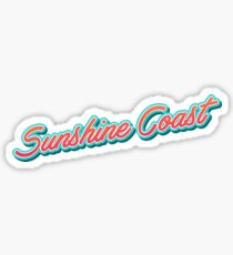 Sunshine Coast AU Typography Sticker