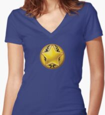 Loyalist halftone Women's Fitted V-Neck T-Shirt