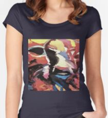 Moody Cow Women's Fitted Scoop T-Shirt