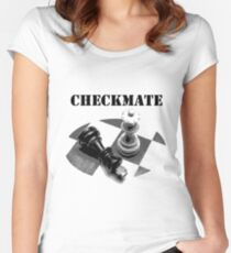 Checkmate, checkmate, bachelorette Women's Fitted Scoop T-Shirt