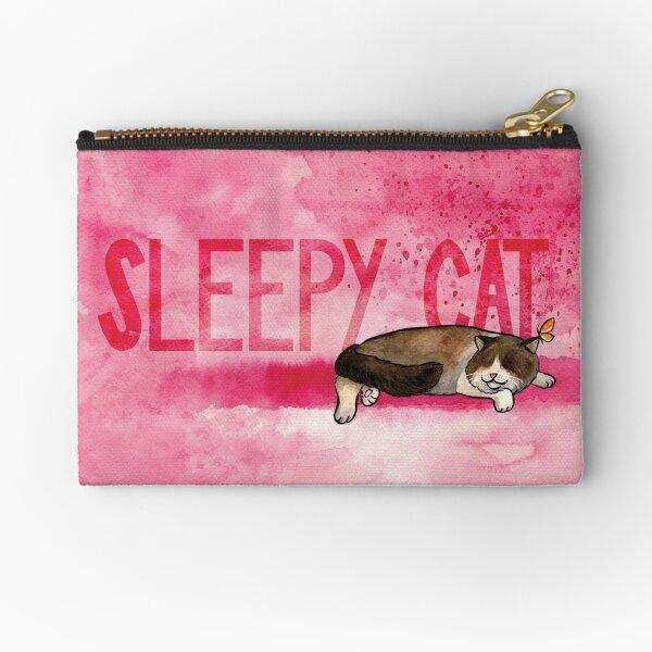 Sleepy cat Zipper Pouch