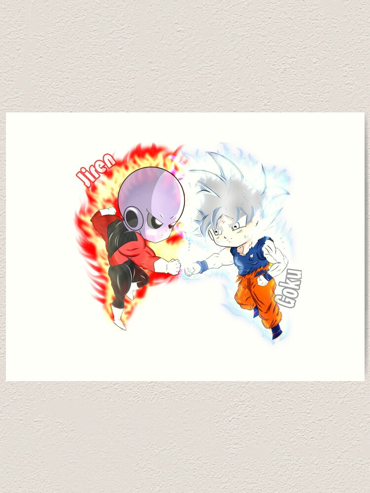 Impression Artistique Goku Ultra Instinct Vs Jiren Par Jstudiosoregon Redbubble