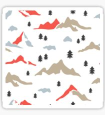 Colorful mountains and trees Sticker
