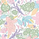 floral pastel spring dreams by smalldrawing