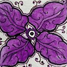 Zentangle 304 Oak leaf in Purple by CCWillow