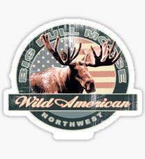 bull moose Sticker