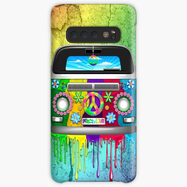 Hippie Van Bus Dripping Rainbow Paint Samsung Galaxy Snap Case
