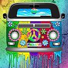 Hippie Van Dripping Rainbow Paint by BluedarkArt