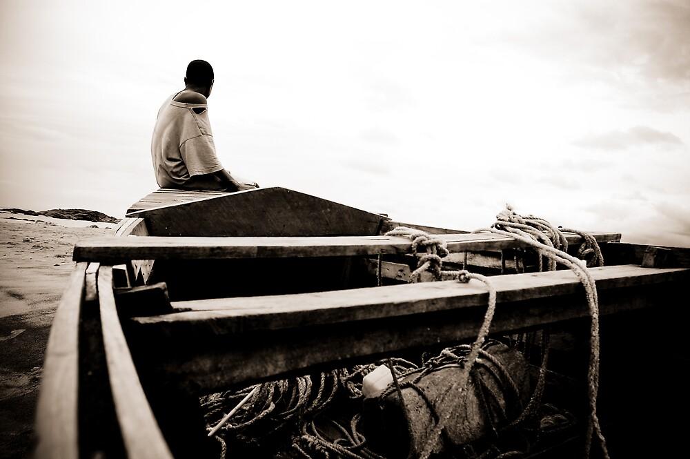 Malawian Boat Boy by Tim Cowley
