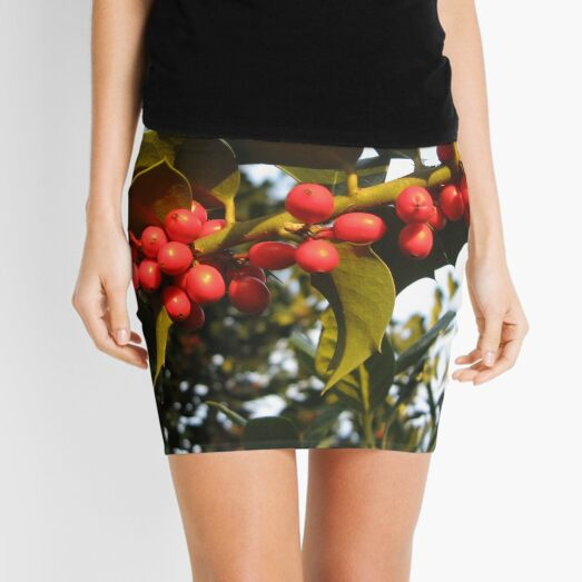 American Holly, Hawthorn,  haw, whitethorn Mini Skirt
